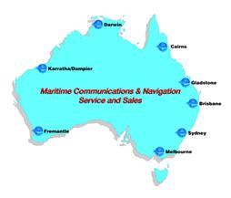 map of locations in Australia