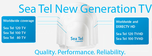 SeaTel New Generation Satellite TV Worldwide coverage
